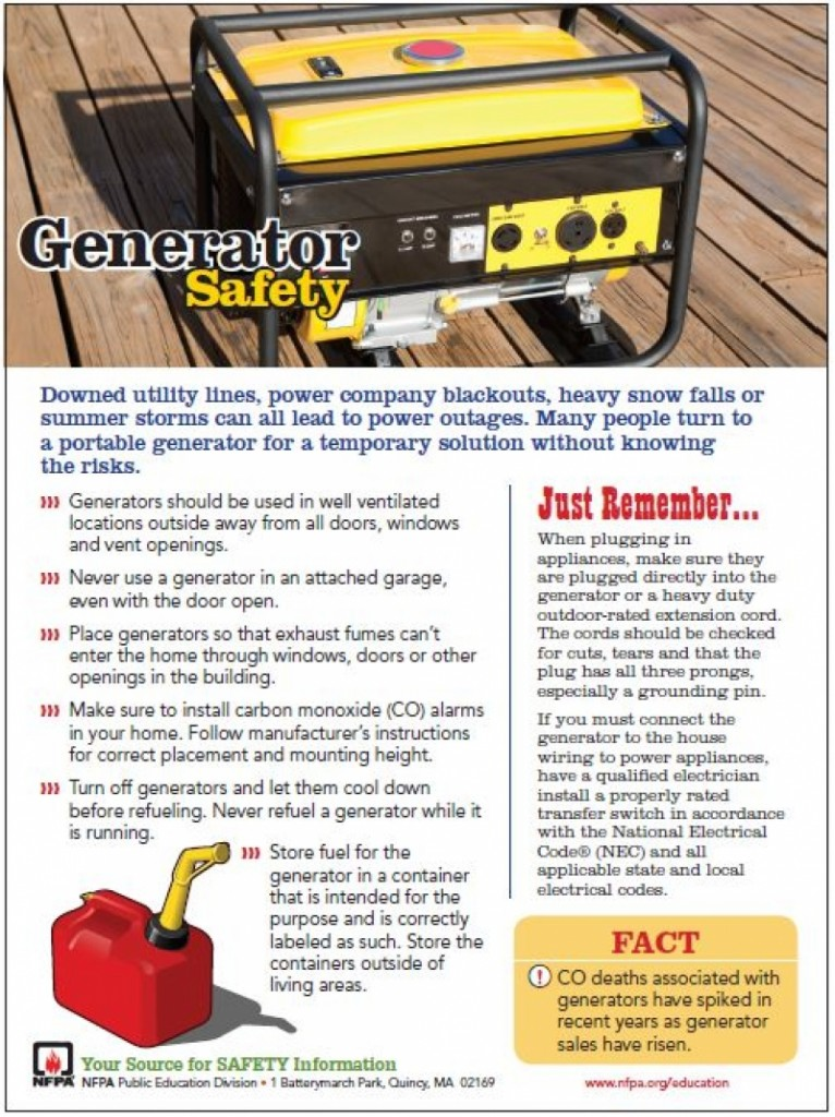 Generator Safety & CO Alarms