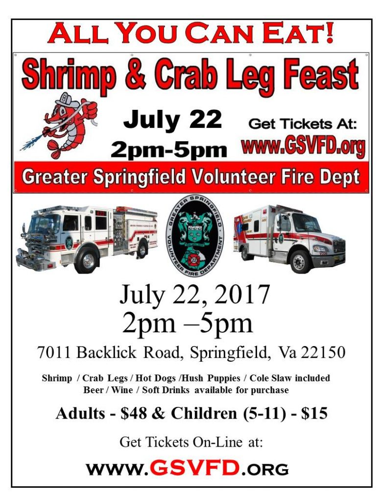 GSVFD Shrimp & Crab Leg Feast