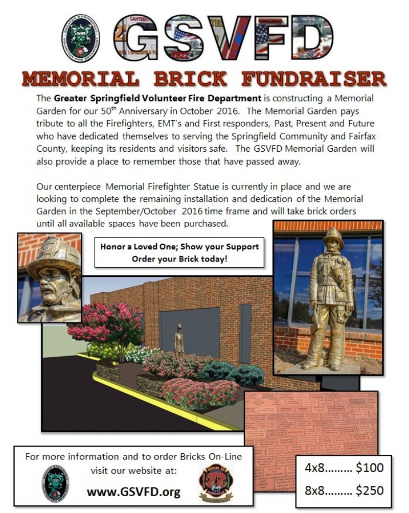 show your support in a lasting way - Brick Garden 2015