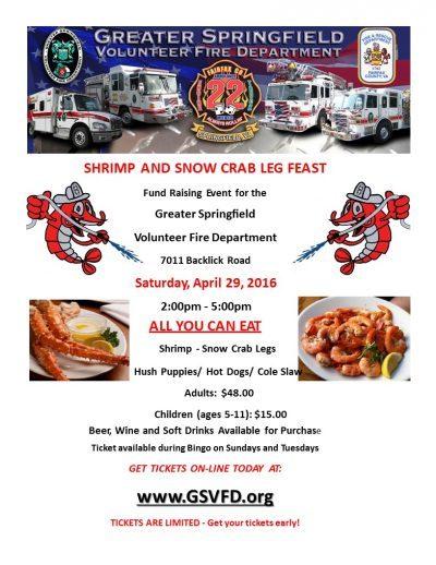 GSVFD All You Can Eat Shrimp & Crab Leg Feast