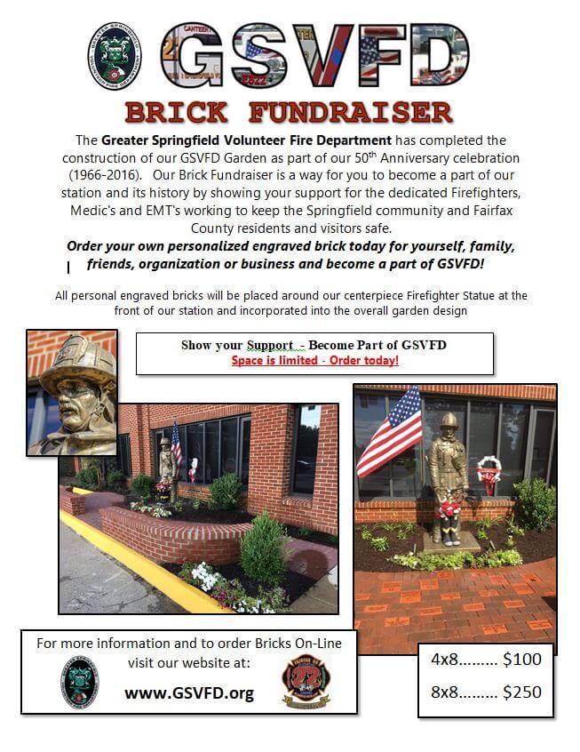 GSVFD Brick Fundraiser